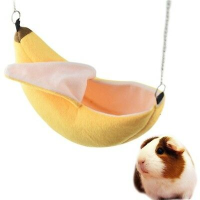 Hamster Banana Shaped Hammock Small Pet Gerbil Rat Mouse Hanging Nest Bed Toy