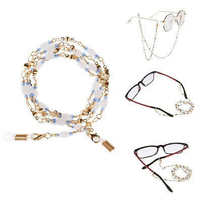 Fashion Beaded Eyeglass Chain Holder Reading Glasses Cord  Sunglasses Strap