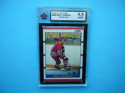 1990/91 Score Nhl Hockey Card #440 Eric Lindros Rookie Ksa 9.5 Nr Gem Mint Sharp