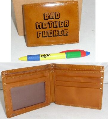 PORTAFOGLIO Pulp Fiction BAD MOTHER FUCKER Wallet ORIGINALE Scritta CUCITA Top