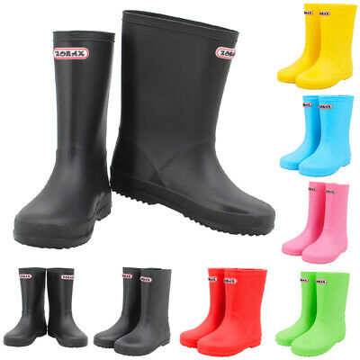 Leopard Boys Kids Wellies Wellington Boots Child Junior Rain Boots EU 23 - EU 35