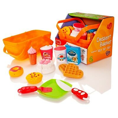 Milly & Ted Dessert Cakes Picnic Basket Childrens Pretend Play Food Toy Playset