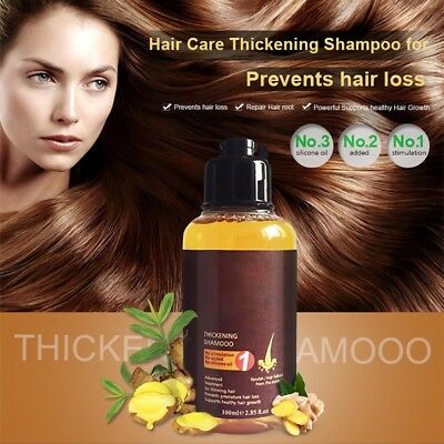 1 Bottle Herbal Ginger Hair Shampoo Essence Treatment Hair Loss Help Regrowth
