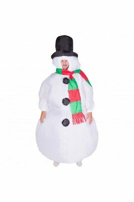 Adults Inflatable Christmas Snowman Fancy Dress Jack Frost Costume