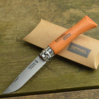 Opinel #7 French Made Beechwood Handle High Carbon Folding Knife 13070
