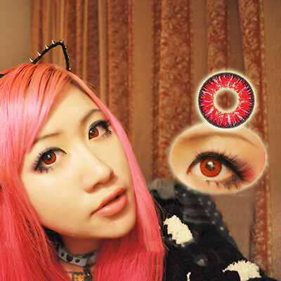 1 Pair Unisex Big Eye Makeup Charming Colored Contact Lenses Beauty Tool Magia