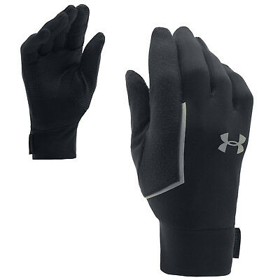 Under Armour Mens No Breaks Armour Liner Gloves Winter Thermal Run Sports Pair