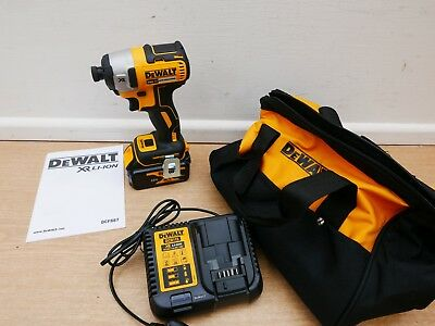 Brand New Dewalt Xr 18V Dcf887M1 Brushless Impact Driver 4 Ah Li-Ion In Bag