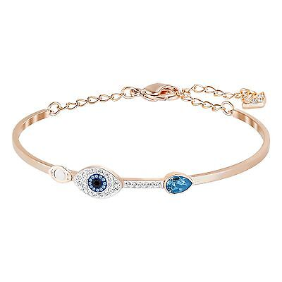 Duo Evil Eye Bangle Bracelet Medium Swarovski Jewelry 2015 Swarovski   5171991