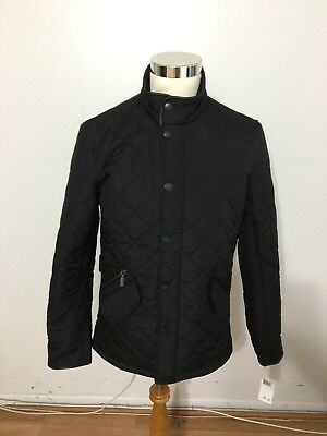 NWT Men's BARBOUR Powell Quilted Jacket, Small, Black