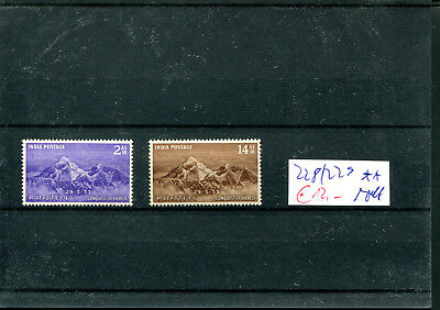 223) Indien 1953  - Mi.- Nr. 228/229 ** (m/nh) - Mount Everest