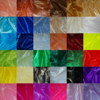 Sheer Organza Fabric Voile Curtain Wedding Drape Material Per Metre 150cm Wide