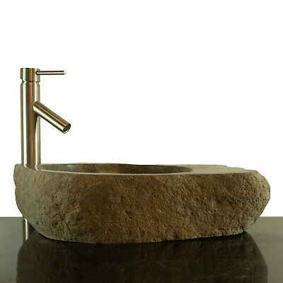 Big River Stone Vessel Sink with Soap Dish Bathroom Counter Top RSTDD-12
