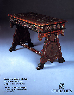 Christies European Works Decorative Art Objects Carpets Furniture 1995 October