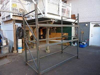 """Pallet Rack Shelving Racking  8' Tall x 8' 6"""" Wide x 4' Deep,2 uprights,6-arms"""