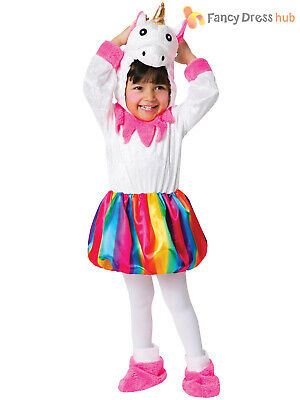 Toddler Unicorn Rainbow Costume Girls Magical Fairytale Fancy Dress Kids Outfit