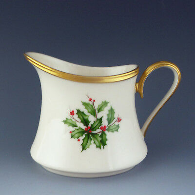 Lenox China HOLIDAY Creamer Mini 4 oz Christmas Holly Berry Pitcher Miniature