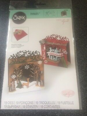 Sizzix 19 Thinlits Dies Holiday Shadow Box Christmas Cards  New 662284