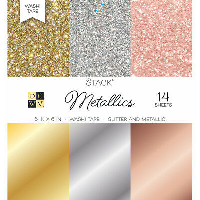 """DCWV 6/"""" x 6/"""" Doublesided Cardstock Stack  JEWELS ~ SOLIDS 36ct.~ MS-019-00018"""