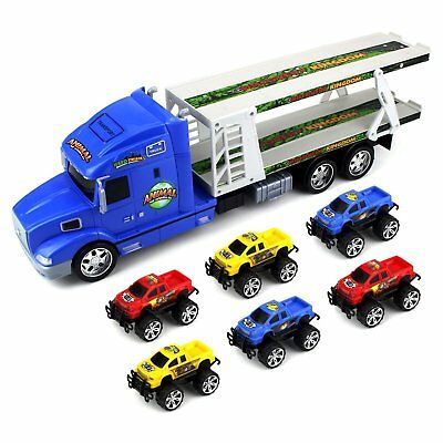 Animal World Truck Trailer Children's Ready to Run 1:24 Scale Friction-powered