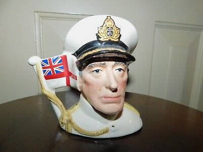Royal Doulton Earl Mountbatten of Burma D 6851 Small Character Jug 2535 of 9500