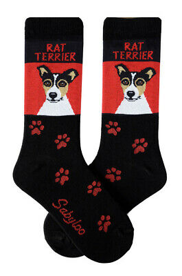 Rat Terrier Crew Socks Unisex Red
