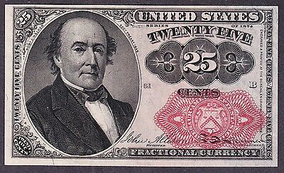 US 25c Fractional Currency Note 5th Issue FR 1309 Ch CU Position 61-B
