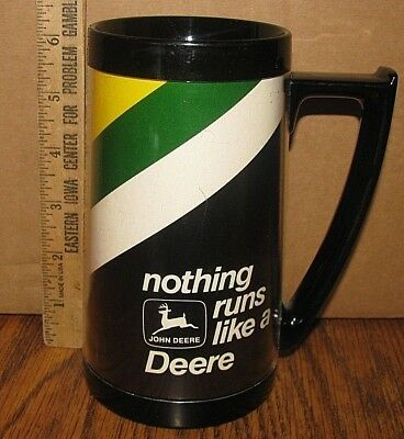 John Deere Nothing Runs Deer Logo Insulated West Bend Thermo Serve Mug Cup jd