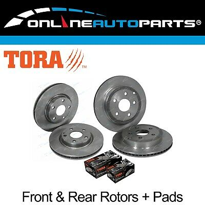 Front & Rear Disc Brake Rotors + Pads Pack Commodore VE Statesman WM 2006~2013