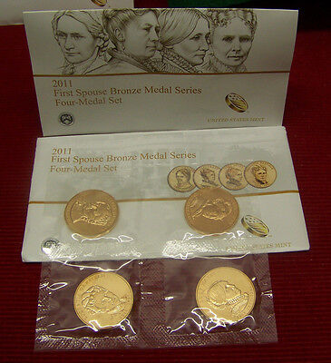2011 - First Spouse Bronze Medal Series - 4 medal set   ( 5th series)  UNC
