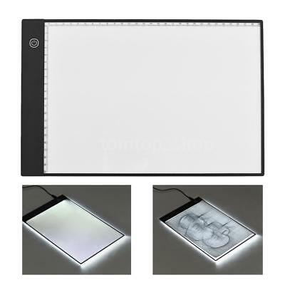 A4 LED Craft Tracing Light Box Drawing Board Diamond Painting Pad Stepless T0Z6
