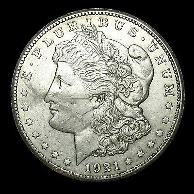 1921 S ~**ABOUT UNCIRCULATED AU**~ Silver Morgan Dollar Rare US Old Coin! #977