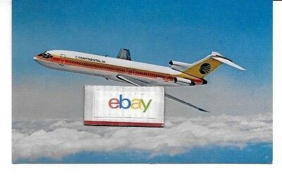 Continental Airlines Boeing 727-200 Airline Issue Postcard