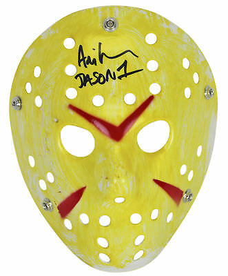 Ari Lehman Friday The 13th Authentic Signed Yellow Jason Mask BAS #D67928