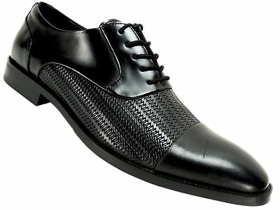 d5a36fe4795d Kenneth Cole New York Men s Ticket Balance Oxfords Black Leather Size 10.5 M