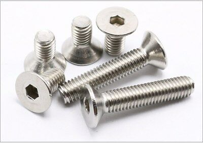High Quality M3 M4 M5 M6 304 Stainless Steel Hex Flat Head Screw Bolt 10-100pcs