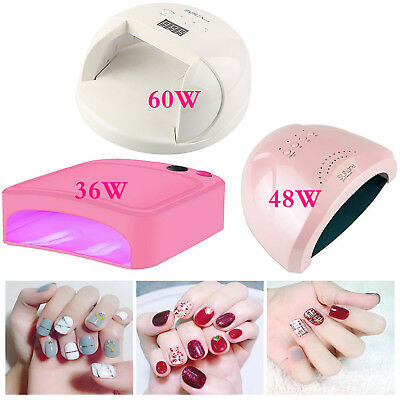 Pro 36W 48W 60W UV Gel Nail Polish Dryer LED Lamp Acrylic Curing Light Manicure