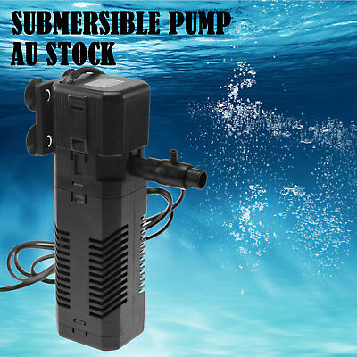 300-1200L/H Aquarium Fish Tank Pump Internal Submersible Pond Aqua Water Filter