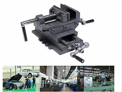 Heavy Duty Cross Drill Press Vise X-Y Slide Metal Milling 2 Way Clamp Vice Grip