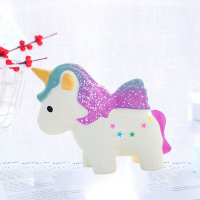 Jumbo Unicorn Squishy Squishies Squeeze Toy Stress Reliever Aid Mobile Straps