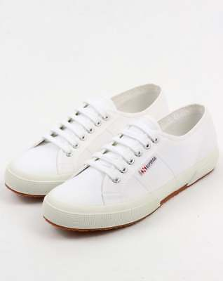 Superga Shoes 2750 Cotu Classic White Canvas Unisex Sneakers