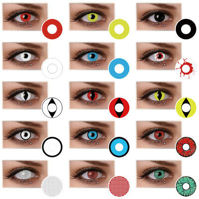 Halloween Color Contacts Lenses Party Cosmetic Cosplay Vampire Colored Lens Mag