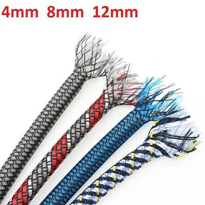 4mm 8mm 12mm PET&PP Cotton Yarn Mixed Braided Cable Sleeving/Harness/Sheathing
