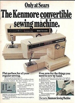 1976 Sears Kenmore Convertible Sewing Machine Ad