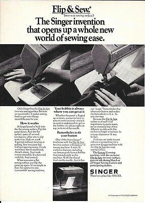 1976 Singer Flip & Sew Sewing Machine Ad Opens Up A Whole New