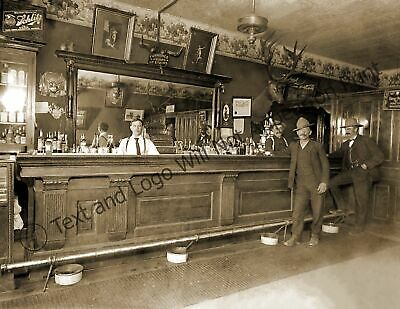 "1915 Elkhorn Saloon, Lewistown, Montana Vintage Photo 8.5"" x 11""  Reprint"
