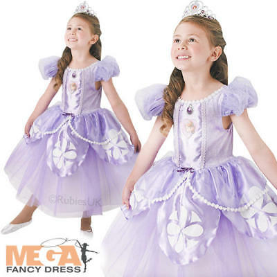 Disney Premium Sofia The First Girls Fancy Dress Princess Kids Deluxe Costume