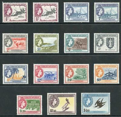 British Virgin Islands SG149/61 1956 set of 13 plus 149a and 150a M/M
