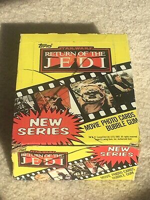 1983 Topps Return of the Jedi Series 2 Wax Box 36 Unopened Packs X Mark Out