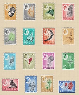 SWAZILAND 92-107 1962 Queen Eliz set complete mint